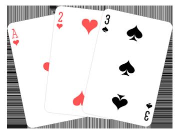 Tangan kartu lurus